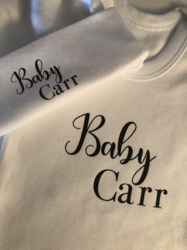 Newborn Baby Set in Black & White