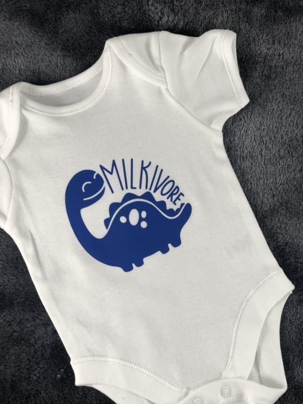Milkivore blue baby onesie