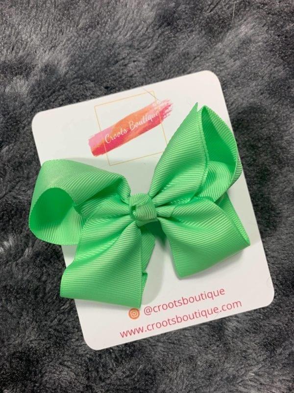 Mint Green bow clip
