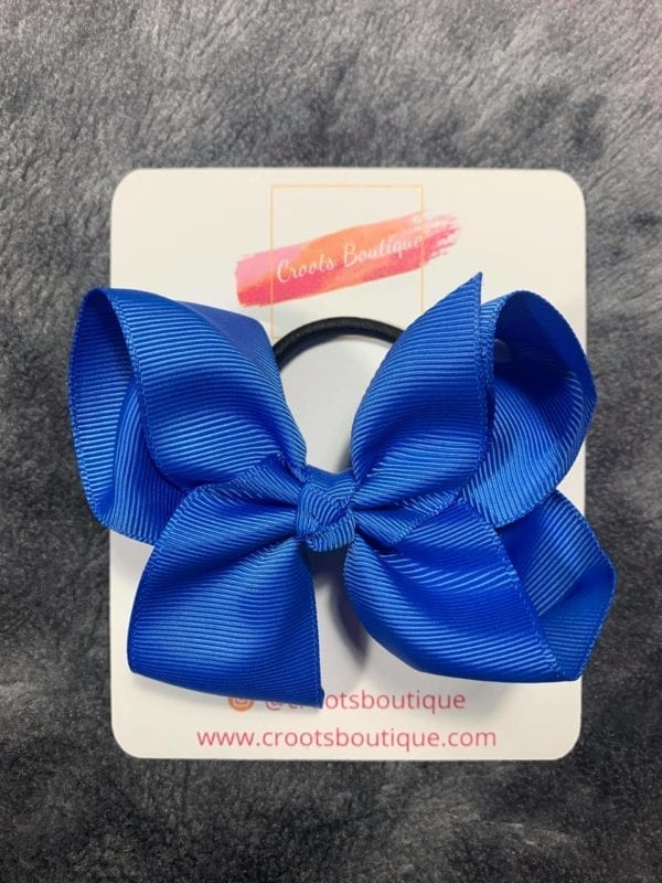 Royal Blue bobble bow
