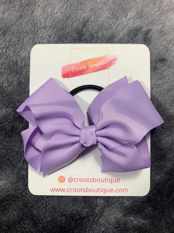 Lilac bobble bow