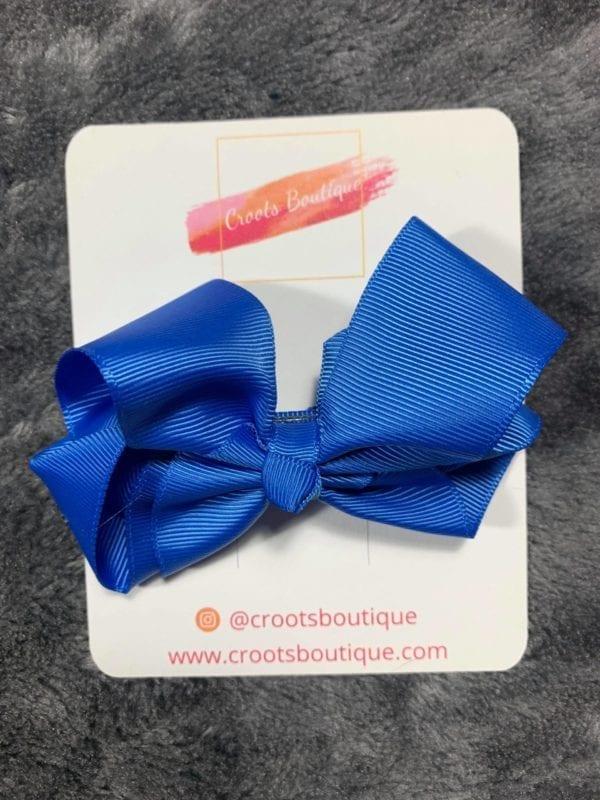 Royal Blue bow clip