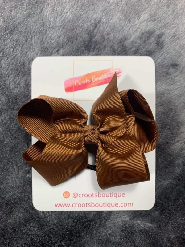 Brown bobble bow