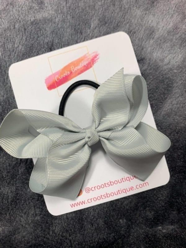 Grey bobble bow
