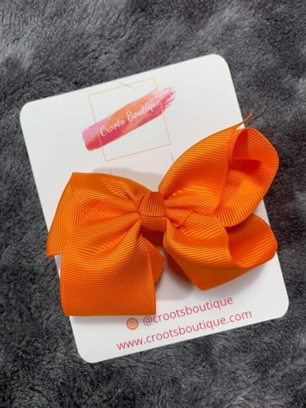 Orange bow clip