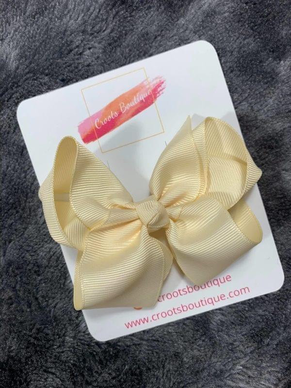 Cream ribbon Bow