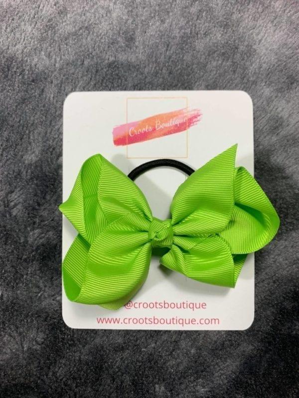 Apple green bobble bow