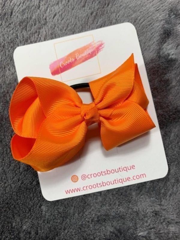 Orange bobble bow