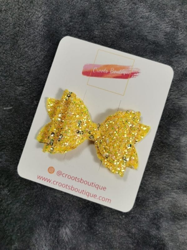 Yellow 3 Layer Bow