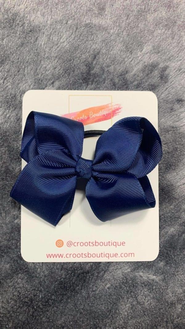 Navy Blue bobble bow