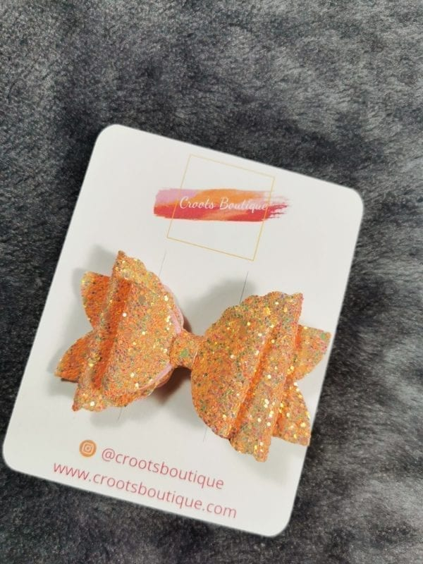 Peach 3 Layer Bow