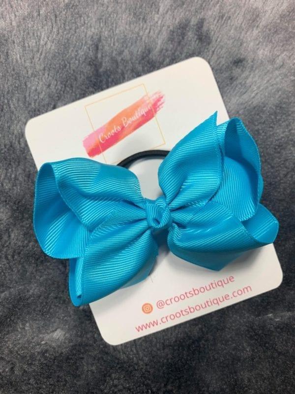 Blue bobble bow