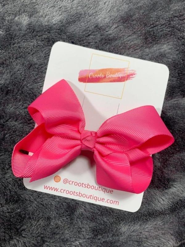 Bright Pink ribbon Bow