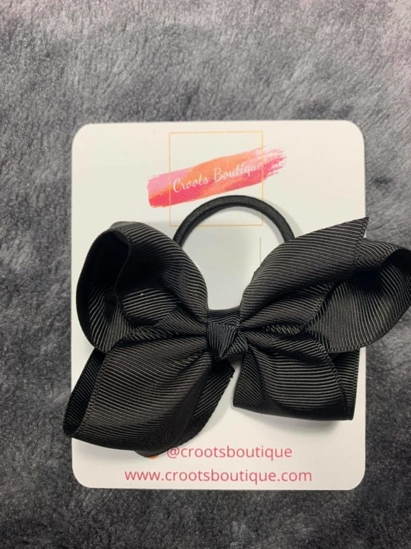 Black bobble bow