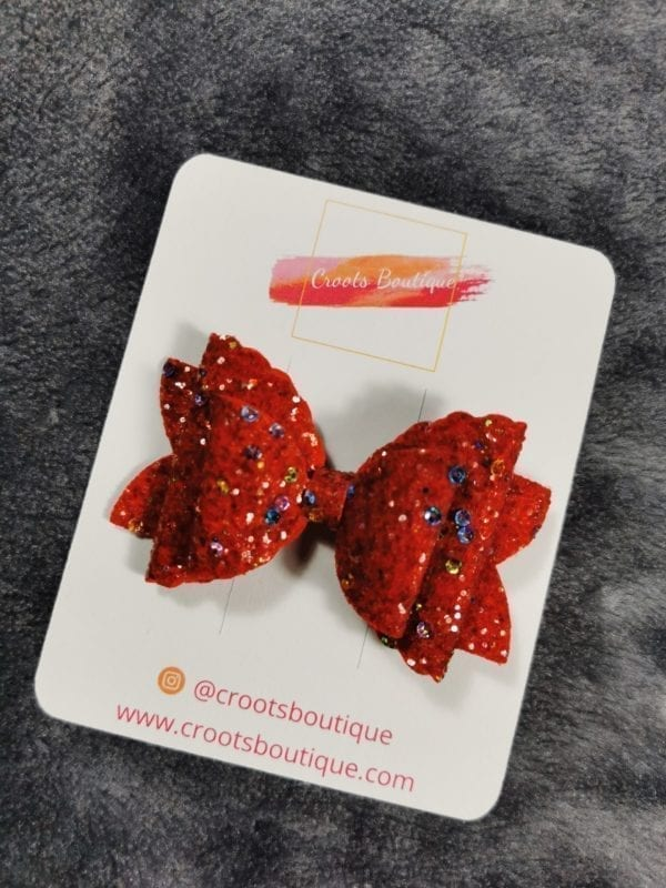 Red 3 Layer Bow