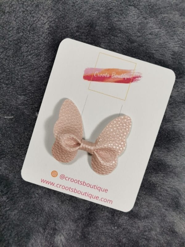 Pink Butterfly Clip