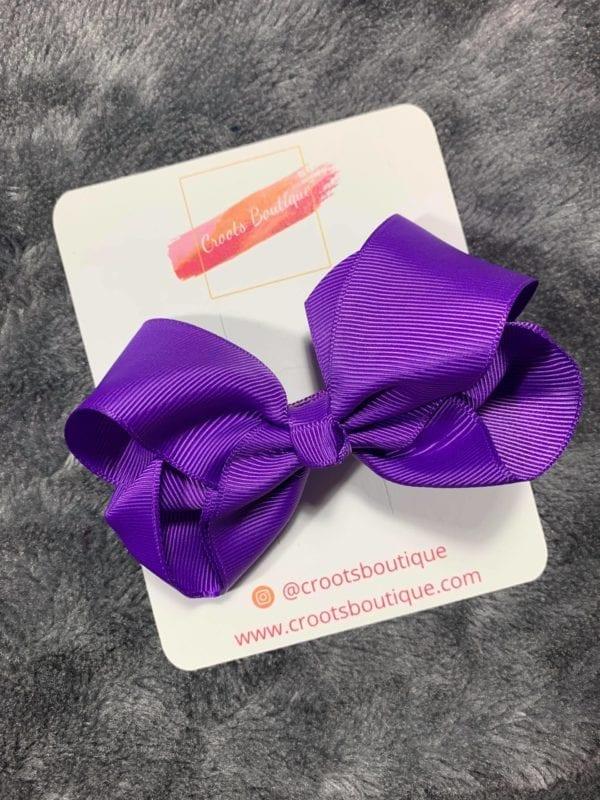 Purple bow clip
