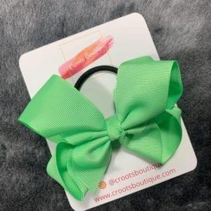 Mint green bobble bow