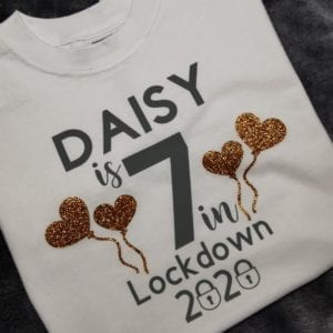 Birthday lockdown tshirt