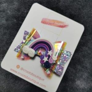 Purple Rainbow Bow