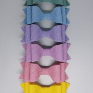 Six pastel bow set