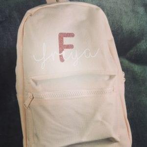 Powder pink mini backpack