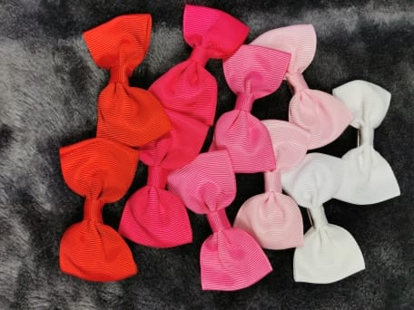 Pink bow set