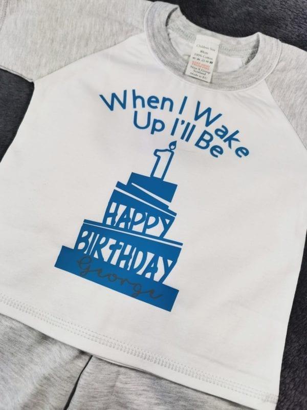 Birthday Pjs - grey