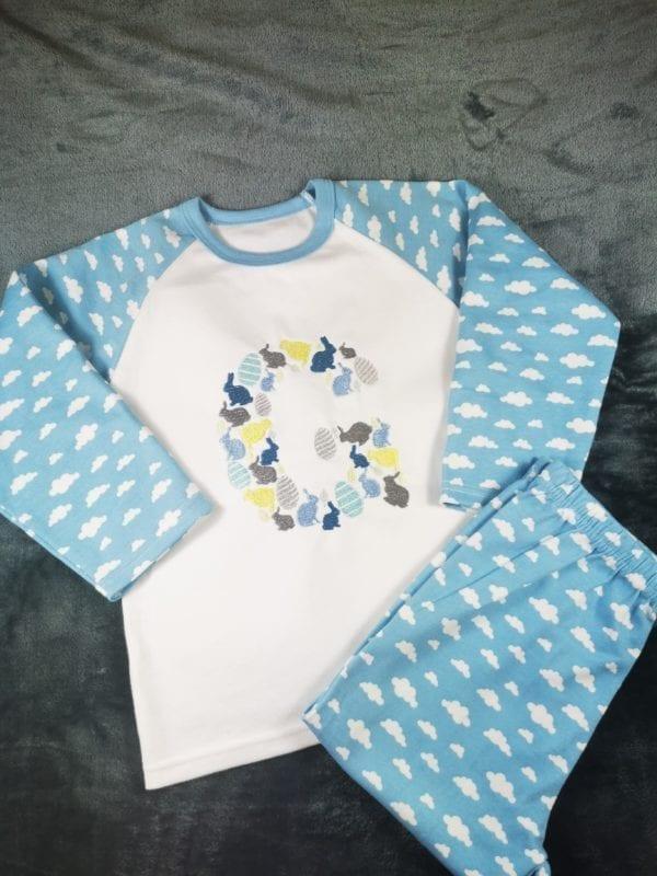Personalised Easter Pyjamas in Blue